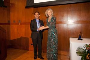 Receiving an award from Search For Common Ground, Washington, DC, 2011