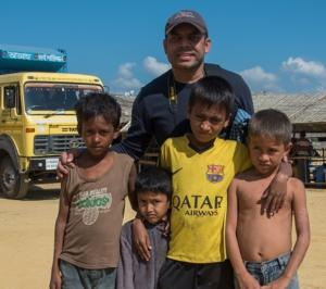 Rais with Rohingya Children