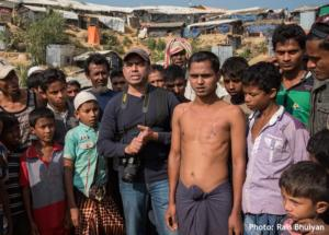 Rais with Rohingya people